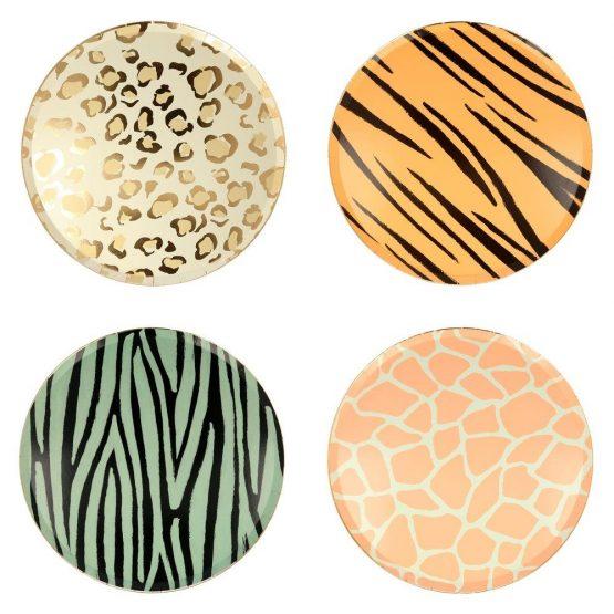 meri meri szafari party tányérok